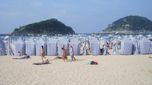 Playa de Ondarreta en Donostia. Foto: eitb.com