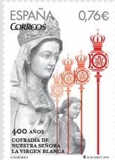 Sello Virgen Blanca. Foto: Correos.es
