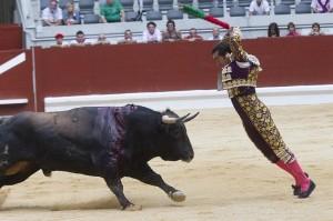 Toros en Vitoria. Foto: EFE