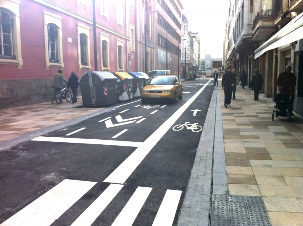Calle Fueros en Vitoria-Gasteiz.