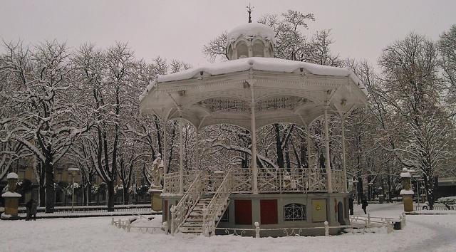 Nieve en Gasteiz. FOTO: Damian Santiago