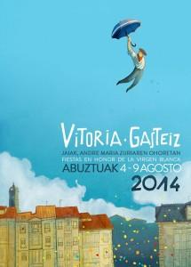 Cartel de las fiestas de Gasteiz 2014