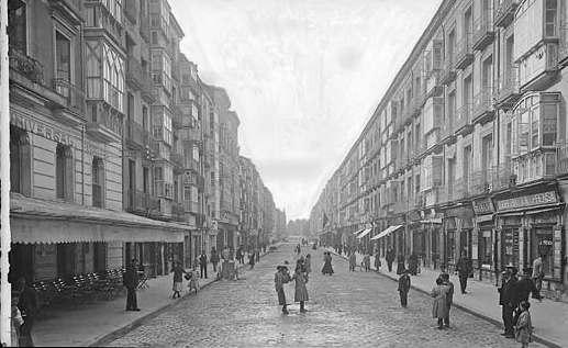 Vitoria-Gasteiz. Calle de la estación, hacia 1905. Foto: vitoria-gasteiz.org