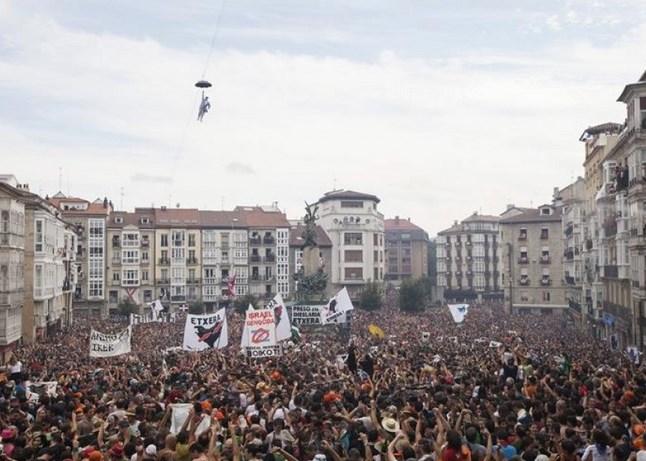 Fiestas de la Virgen Blanca en Gasteiz 2014.