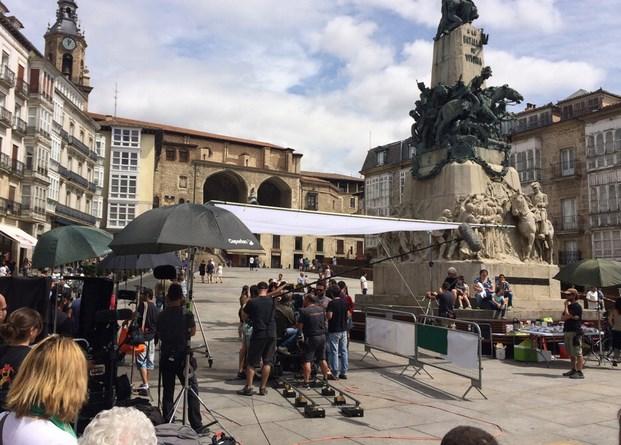 Rodaje de 'El rey gitano'. Foto: Gasteiz hoy