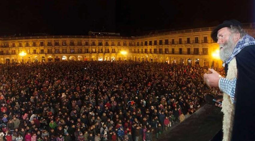 Olentzero en Gasteiz. Foto: vitoria-gasteiz.org