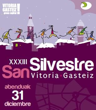 Cartel San Silvestre 2015 Vitoria.