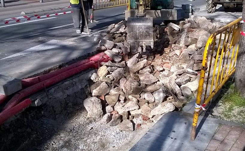 Obras de la nueva parada de taxis en la calle Francia. Foto: vitoria-gasteiz.org