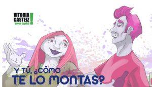 El comic 'Y tú, ¿cómo te lo montas?'. Imagen: Ayuntamiento de Vitoria-Gasteiz.
