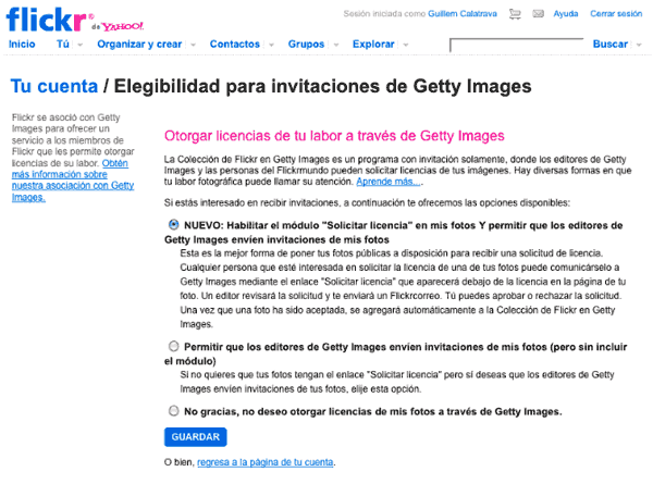 Licencia para vender tus fotos de Flickr con Getty Images