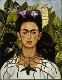 Copyright Bild 01 Selbstbildnis mit Dornenhalsband, 1940 Courtesy:  Austin (TX), Harry Ransom Humanities Research Center Art Collection, The University of  Texas © Banco de México Diego Rivera Frida Kahlo Museums Trust, México, D.F. / VG Bild-Kunst, Bonn 2010 VG-Bildkunst gibt hier die Vorgabe, dass das Verhältnis Text-Bild 1:1 ausgewogen seinmuss. Titelabbildungen sind vorab mit VG-Bild-Kunst zu klären.