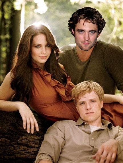 Katniss Peeta Y Robert Pattinson En Los Juegos Del Hambre 2