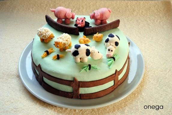 Tarta infantil con animales de granja Magia en mi cocina Recetas