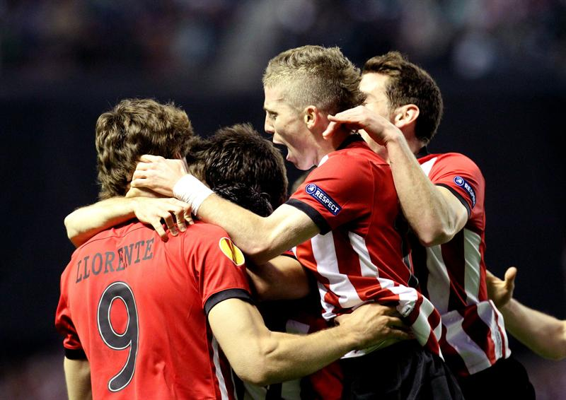 El Athletic estará acompañado por miles de aficionados en Bucarest, en la final de la Europa League. Foto: EFE.