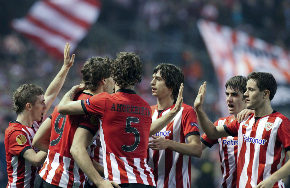 La trayectoria del Athletic en la Europa League, impecable, puede llevar a los leones hasta la final. Foto: EFE.